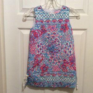 Lilly Pulitzer Girls' Dress 7 White Blue Pink